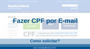 fazer cpf por e-mail