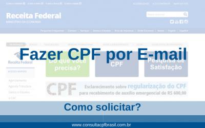 Fazer CPF por E-mail – Como solicitar?