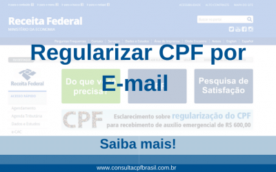 Regularizar CPF por E-mail – Saiba mais!